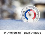 thermometer with celsius scale... | Shutterstock . vector #1036998091