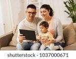 family  technology  parenthood... | Shutterstock . vector #1037000671