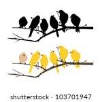 birds wall decal   Shutterstock .eps vector #103701947