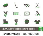 hockey simple vector icons in... | Shutterstock .eps vector #1037023231