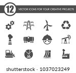 industry vector icons for your... | Shutterstock .eps vector #1037023249