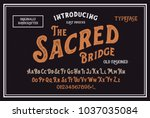 original handmade alphabet.... | Shutterstock .eps vector #1037035084