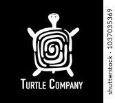 turtle logo  silhouette for... | Shutterstock .eps vector #1037035369