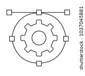 isolated gear design   Shutterstock .eps vector #1037045881