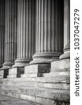 Row Of Columns In Black And...