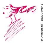vector  stylish  original hand... | Shutterstock .eps vector #1037049841
