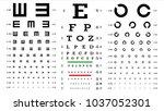 eye test chart vector. vision... | Shutterstock .eps vector #1037052301