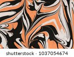 colorful orange with brown... | Shutterstock . vector #1037054674