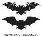 flight of a bat silhouette | Shutterstock .eps vector #103705781
