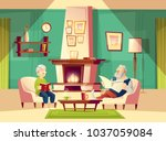 vector cartoon background with... | Shutterstock .eps vector #1037059084