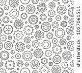 seamless pattern with gears.... | Shutterstock .eps vector #1037061511