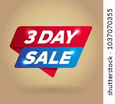 3 day sale arrow tag sign. | Shutterstock .eps vector #1037070355