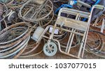wheelchairs for the disabled in ... | Shutterstock . vector #1037077015