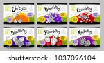 set colorful food labels ... | Shutterstock .eps vector #1037096104