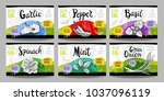 set colorful food labels ... | Shutterstock .eps vector #1037096119