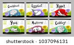 set colorful food labels ... | Shutterstock .eps vector #1037096131