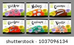 set colorful food labels ... | Shutterstock .eps vector #1037096134