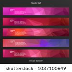 set design elements business... | Shutterstock .eps vector #1037100649