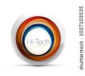 digital techno sphere web... | Shutterstock .eps vector #1037103535