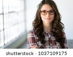 casual head shot close up of... | Shutterstock . vector #1037109175