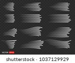 set of different simple black... | Shutterstock .eps vector #1037129929