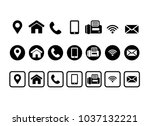 vector contact information icons | Shutterstock .eps vector #1037132221