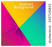 colorful background with flux... | Shutterstock .eps vector #1037140825