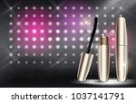fashion design makeup cosmetics ... | Shutterstock . vector #1037141791