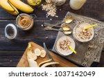 fresh homemade nutritional... | Shutterstock . vector #1037142049