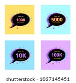 thank you followers banners.... | Shutterstock .eps vector #1037145451
