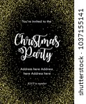 christmas party invitation card ... | Shutterstock .eps vector #1037155141