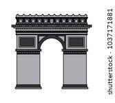 arch of triumph | Shutterstock .eps vector #1037171881