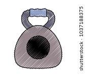 kettlebell icon over white... | Shutterstock .eps vector #1037188375
