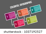 colorful infographic in five... | Shutterstock .eps vector #1037192527