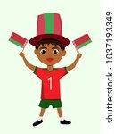fan of belarus national... | Shutterstock .eps vector #1037193349