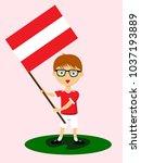 fan of austria national... | Shutterstock .eps vector #1037193889