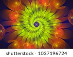 abstract fractal background.... | Shutterstock . vector #1037196724