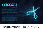 the scissors of the particles.... | Shutterstock .eps vector #1037198617