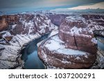 a unique view of horseshoe bend ... | Shutterstock . vector #1037200291