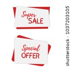 vector banners for sale ... | Shutterstock .eps vector #1037203105