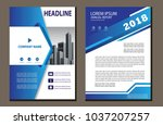 design cover poster a4 catalog... | Shutterstock .eps vector #1037207257
