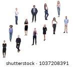 group of twelve different people | Shutterstock . vector #1037208391
