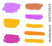 set of hand painted colorful... | Shutterstock .eps vector #1037215519