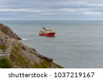 A Red And White Fishing Trawle...