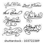 best wishes calligraphic... | Shutterstock .eps vector #103722389
