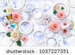 flowers on abstract background... | Shutterstock . vector #1037227351