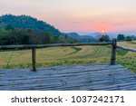 terrace on barley field in... | Shutterstock . vector #1037242171