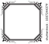 decorative frame and border ... | Shutterstock .eps vector #1037244379