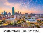 dallas  texas  usa downtown... | Shutterstock . vector #1037245951