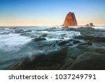 beautiful seashore at tanjung... | Shutterstock . vector #1037249791